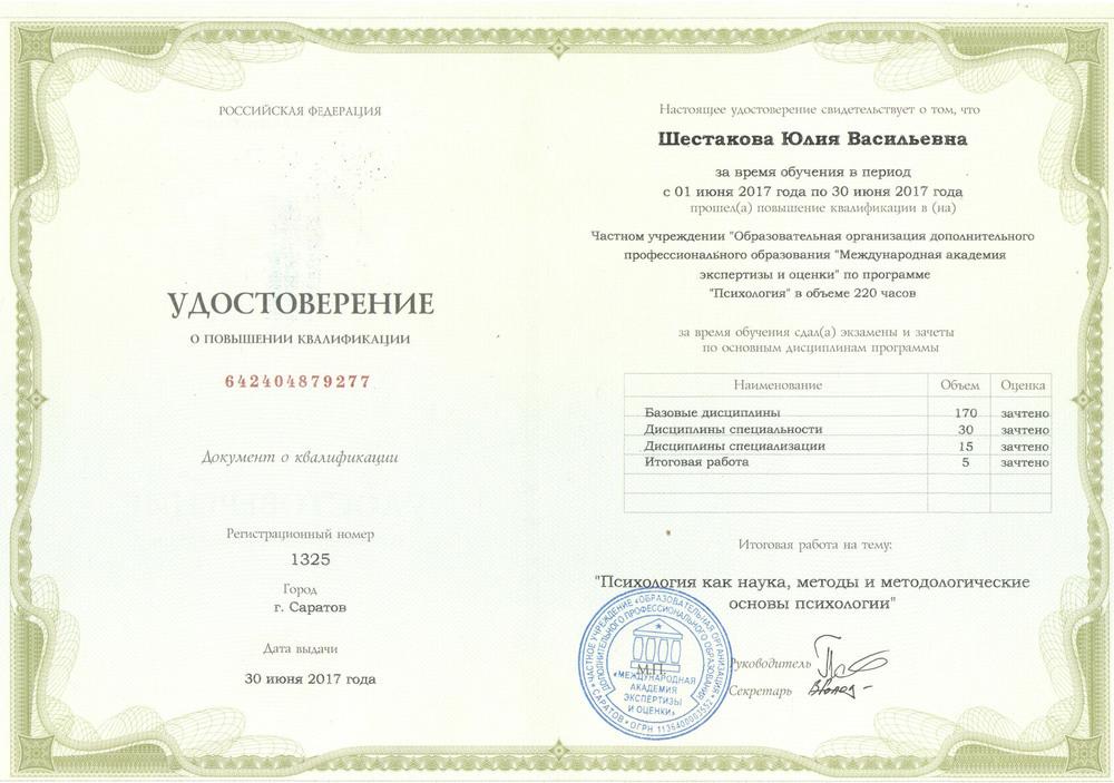 Курсы повышения квалификации для психологов москва